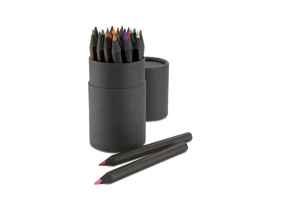 24 kleurpotloden in ronde doos