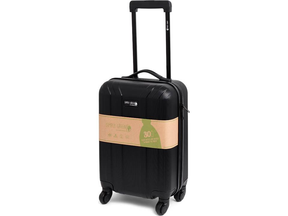 """28123 Cabin Size """"Simply Green"""" Trolley RPET Black"""