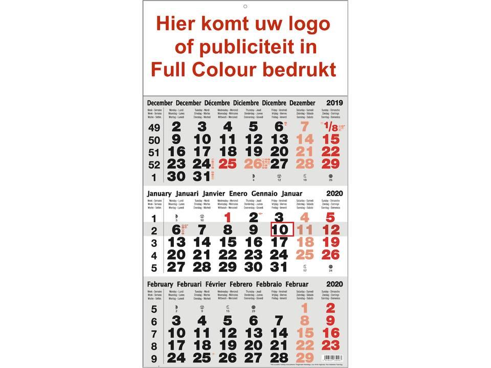 3-maandkalender Full colour bedrukt