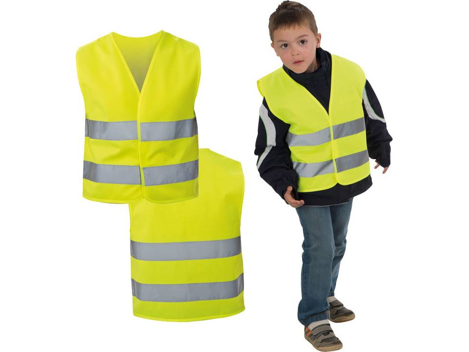gilet de s curit pour enfant vestes de s curit fluo trafic s curit objets. Black Bedroom Furniture Sets. Home Design Ideas