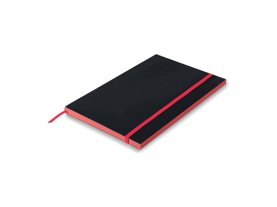 A5 notitieboekje met gekleurde randen