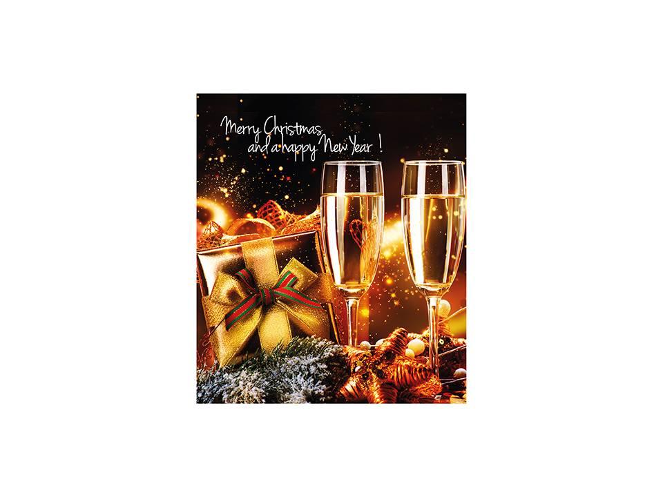 Adventkalender A4 - met eigen omslag en 24 Callebaut chocolaatjes