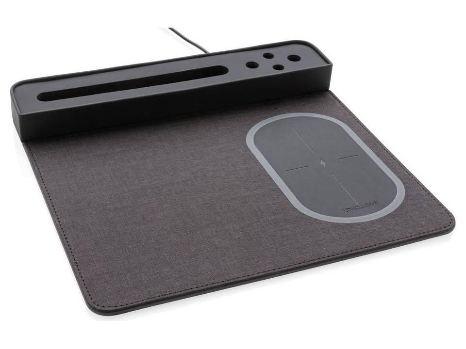 Air muismat met 5W draadloze oplader en USB