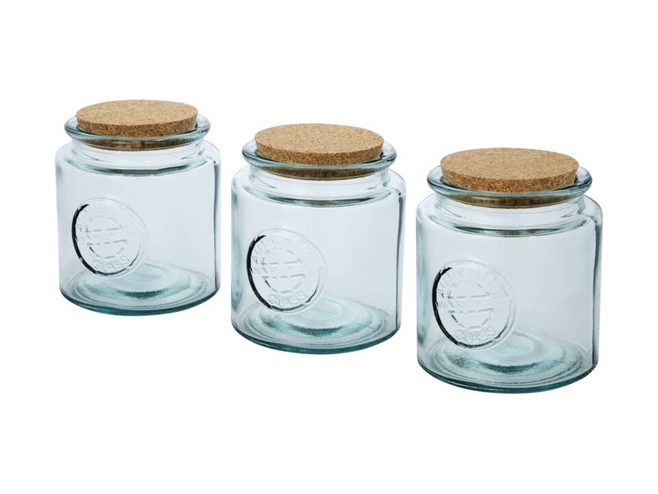 Aire driedelige pottenset van 800 ml gerecycled glas