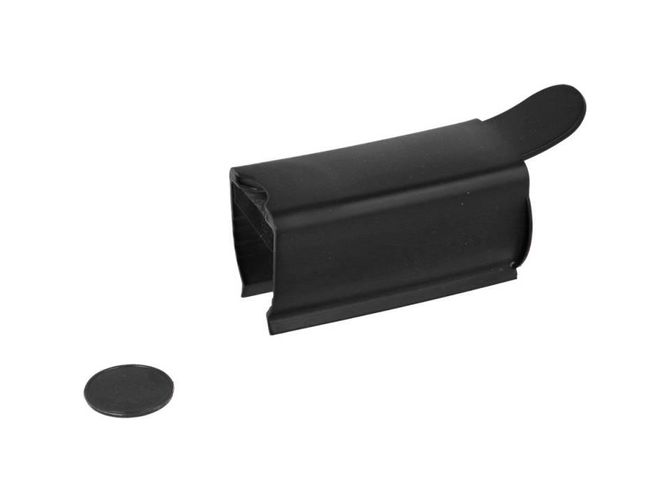Anti-bacteriële winkelwagen Clip-zwart zijkant