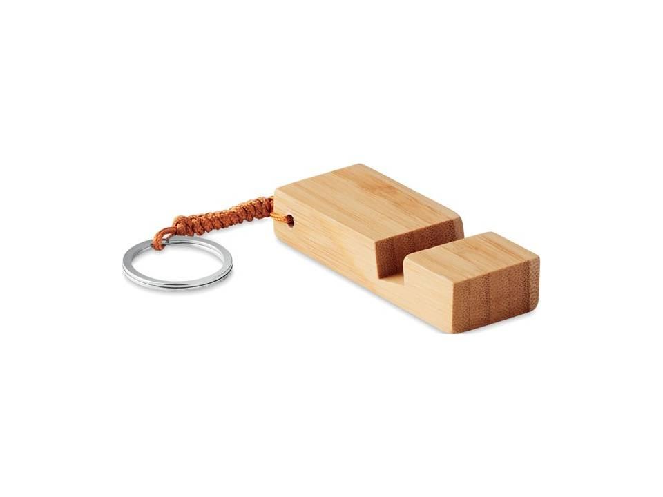 Bamboe telefoonstandaard sleutelhanger