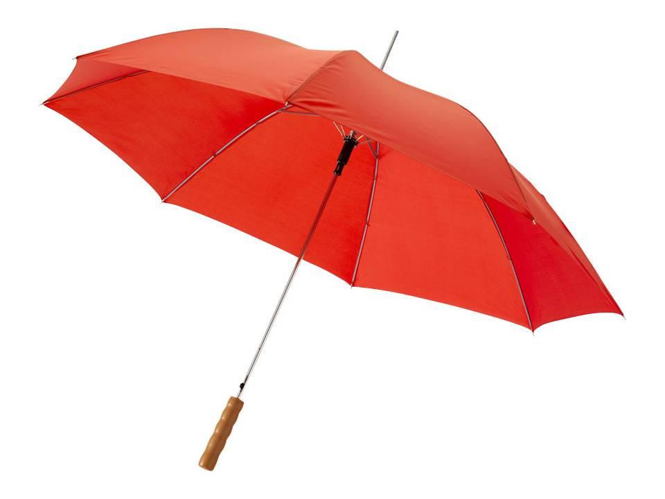 Bedrukte paraplu rood