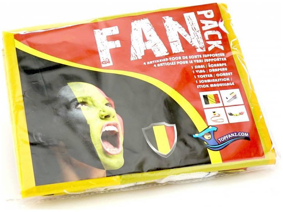 Belgium Party Fan pack 4-delig
