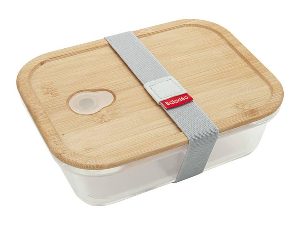 Bento lunchbox van Borosilicaatglas met bamboe deksel