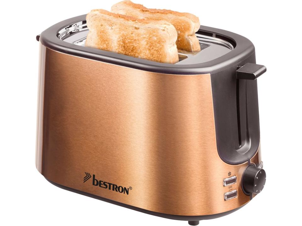 Bestron toaster koperdesign copper