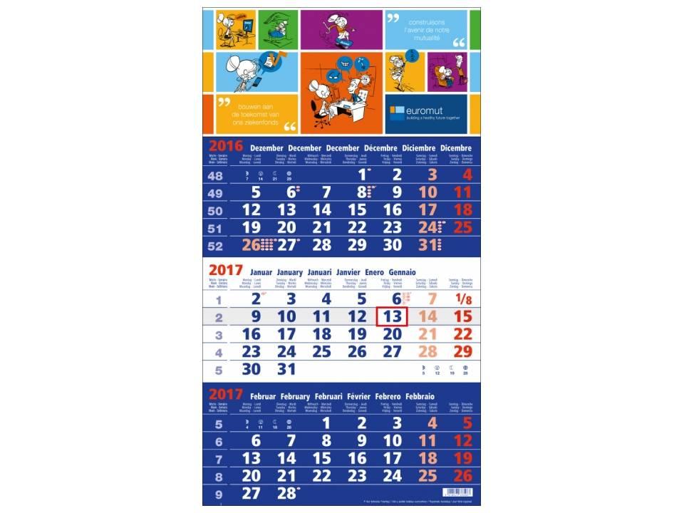 blauwe kalender