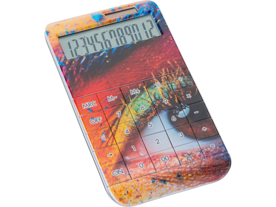 Calculator Reflects UV-print