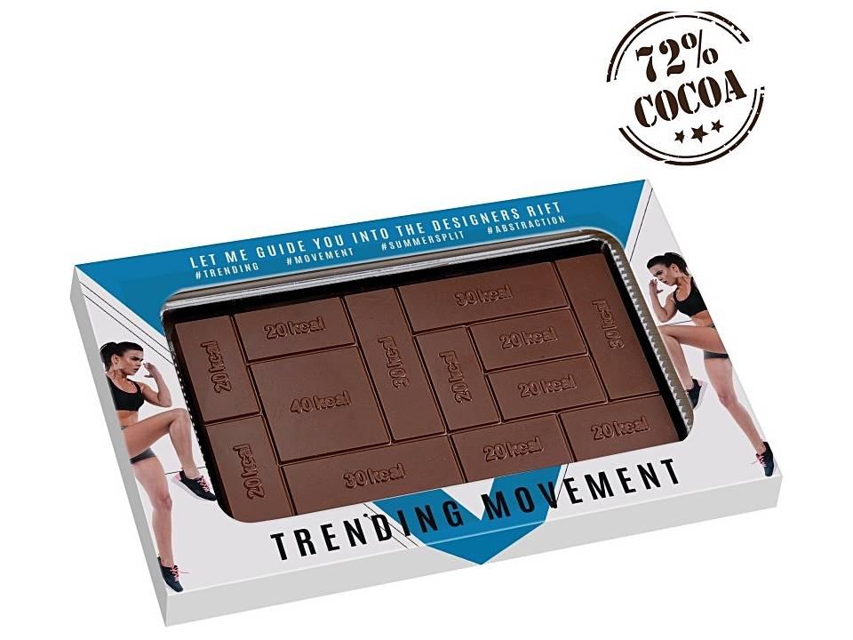 Calorie Tablet bedrukken chocolade