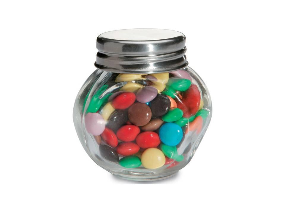 Chocolade in glazen potje bedrukken