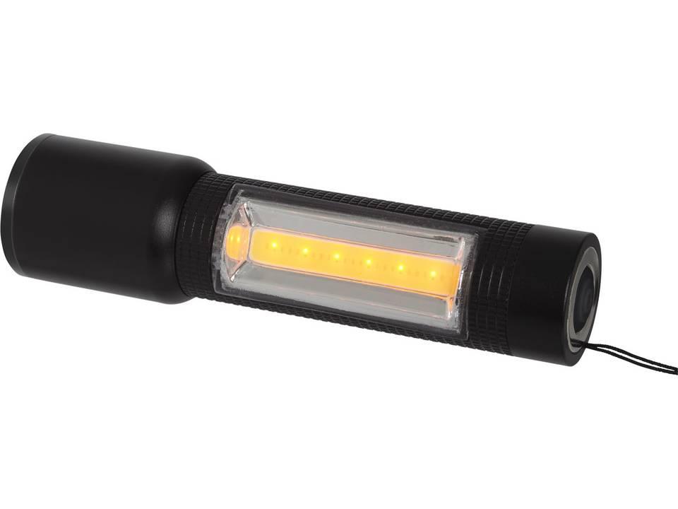 Compacte zaklamp met COB zijlicht bedrukken