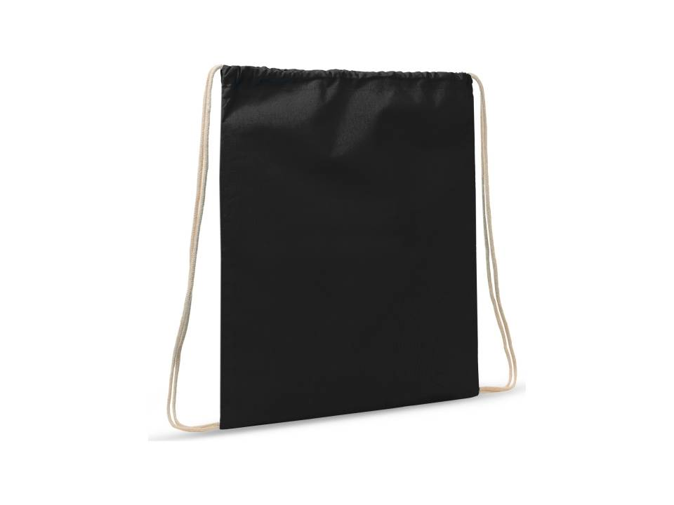 Drawstring Oeko-Tex® Cotton 35 x 45 cm-zwart