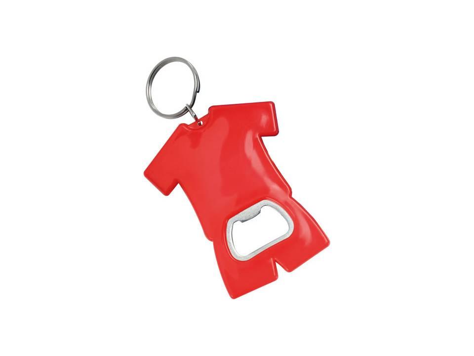 Fan sleutelhanger met flesopener rood