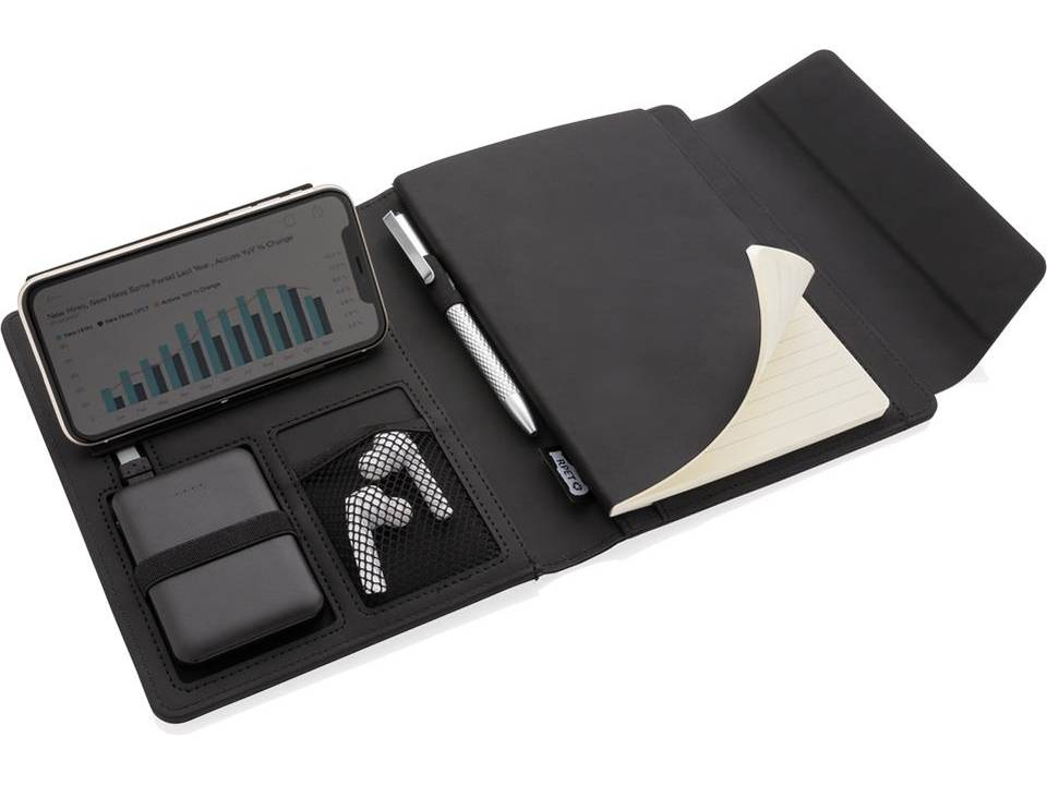 Fiko A5 portfolio met draadloos opladen & 5000mAh powerbank