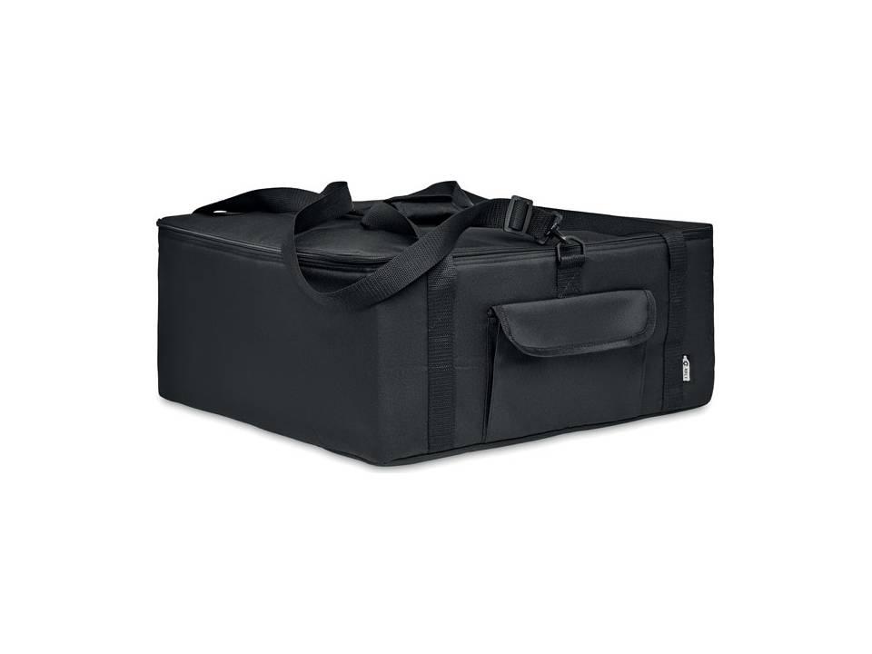geïsoleerde tas Pizzaway-zwart