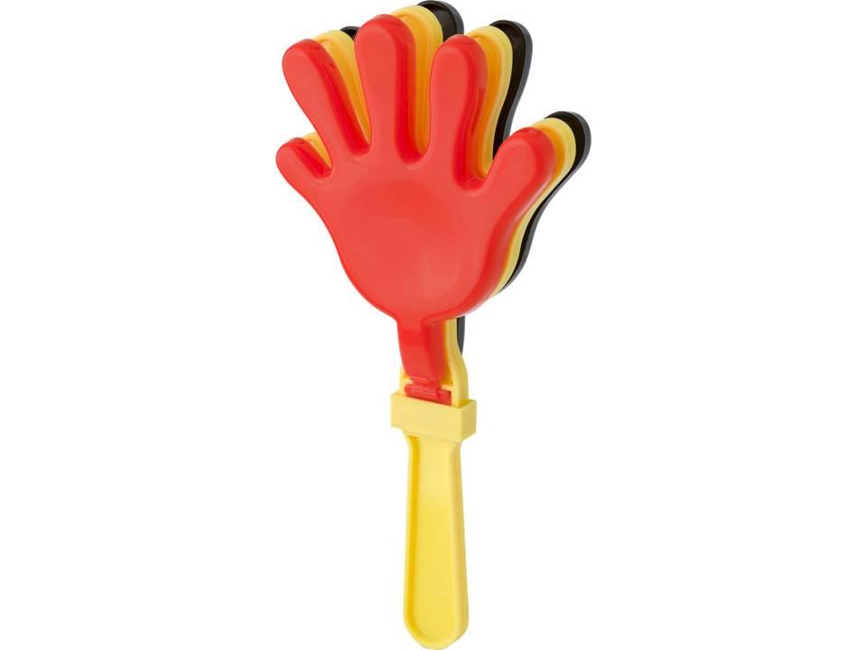 Handenklappers zwart geel rood