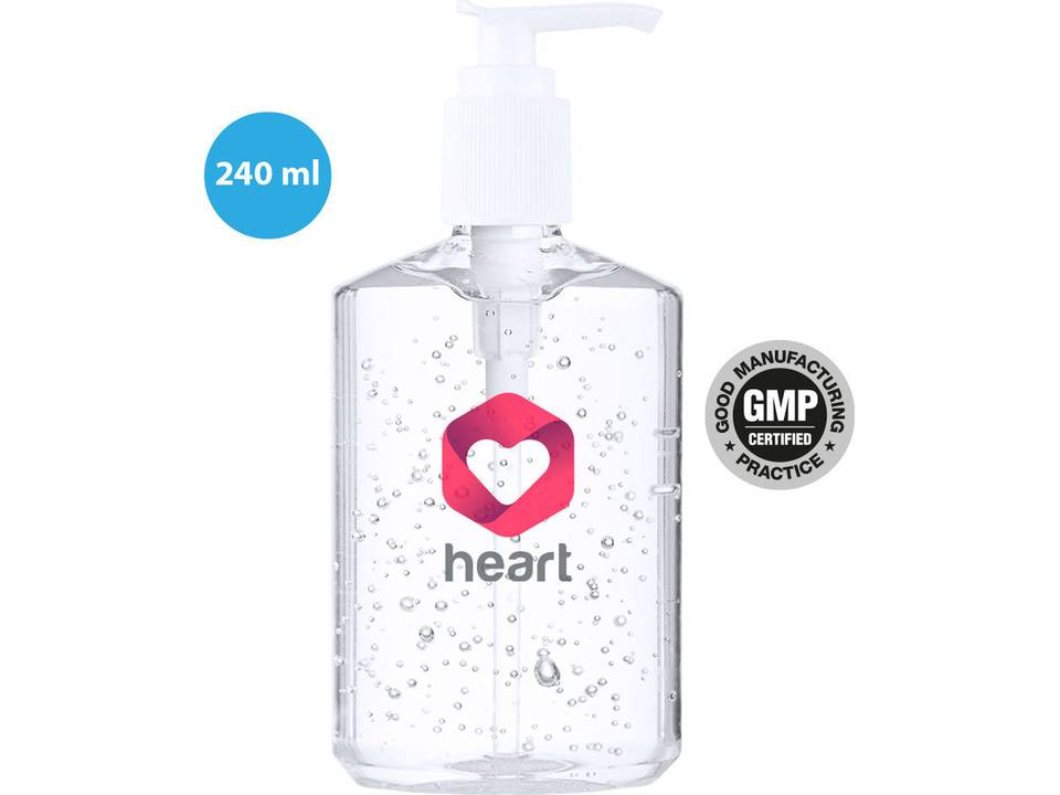 Handgel met pompje en 65% alcoholgehalte - 240 ml