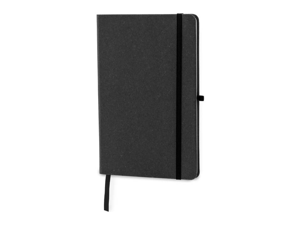 Hardcover Notebook A5 Recycled Leer-zwart