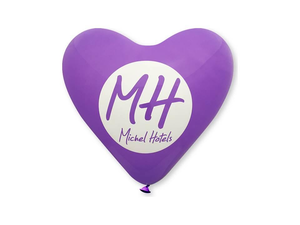 Hart ballonnen paars