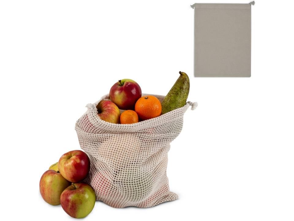 Herbruikbaar Groente & Fruit Zakje Oeko-Tex® Katoen 25 x 30 cm-voorbeeld