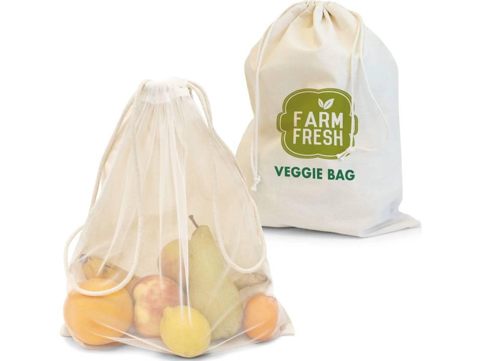 Herbruikbare zak voor groenten en fruit bedrukt