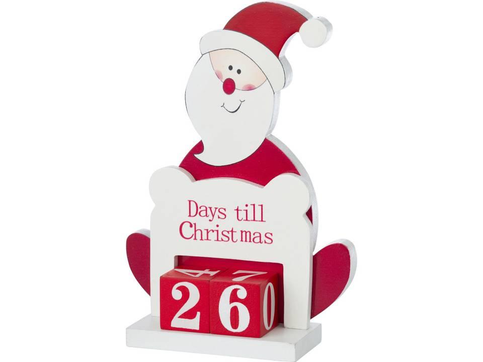 Houten kerstman adventskalender