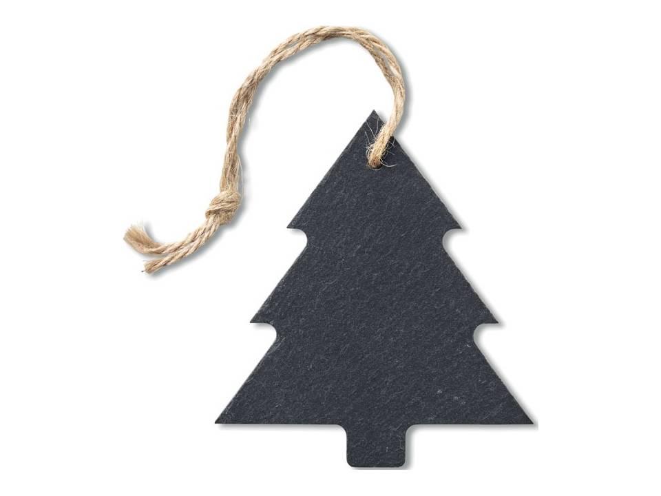 Kerstboomvormige hanger van leisteen bedrukken