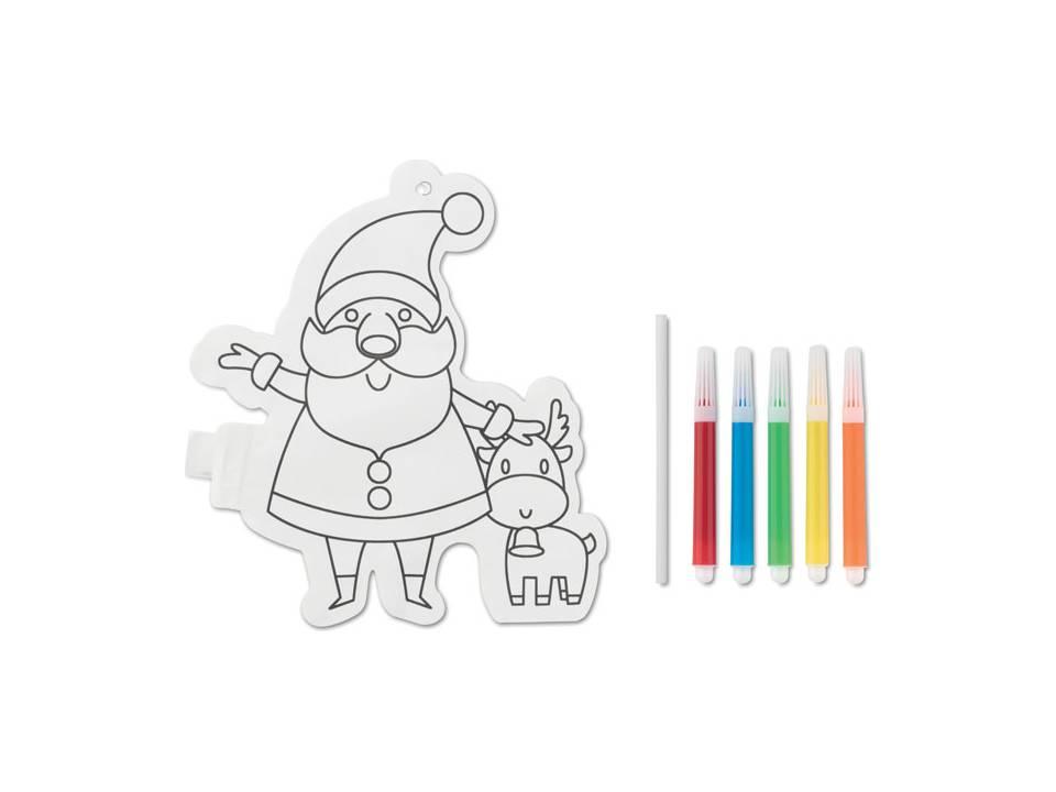 Kerstman om in te kleuren