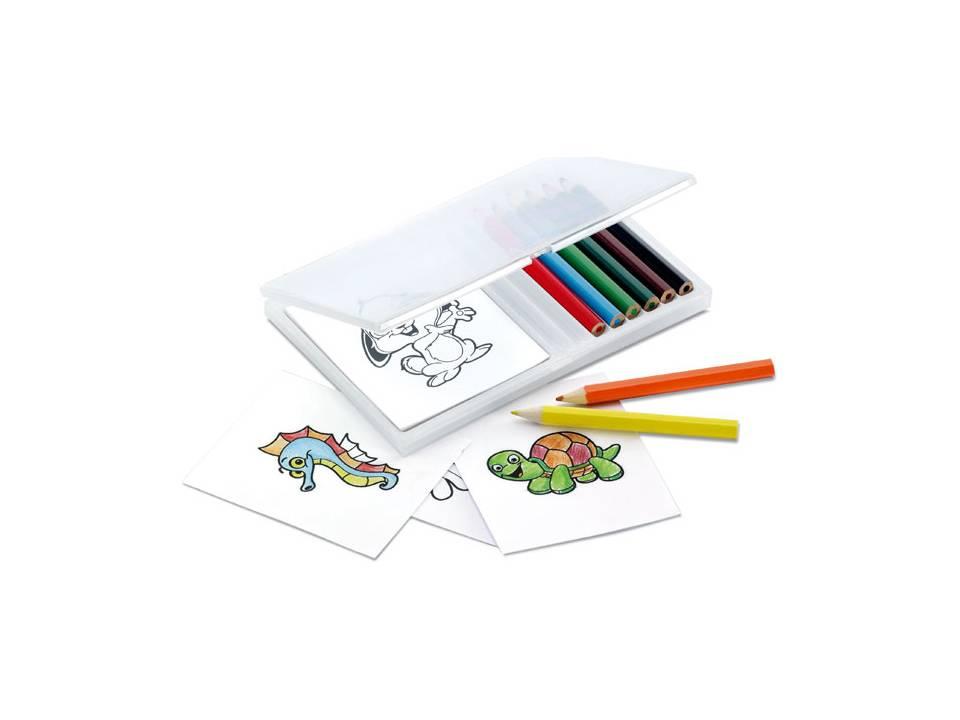 Kleurpotloden met kleurplaatjes
