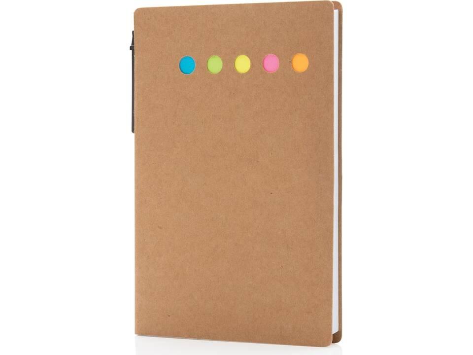 Kraft notitieboekje A6 met pen