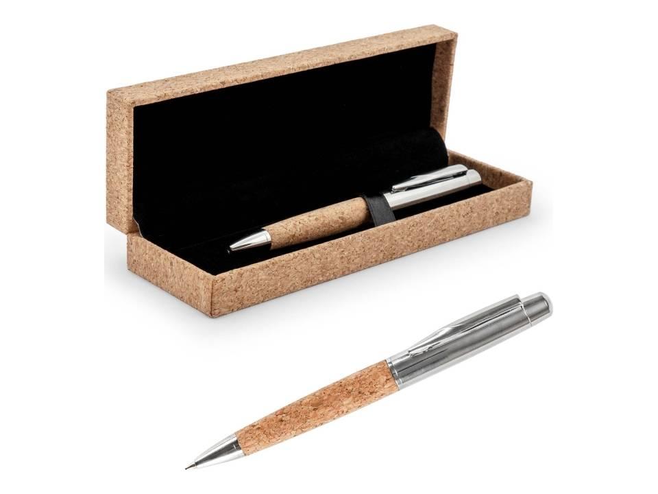Metalen Pen met Kurk in Geschenkverpakking