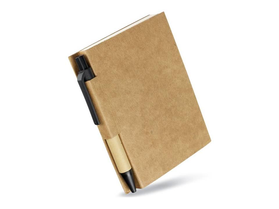 Notaboekje met gerecyclede pen