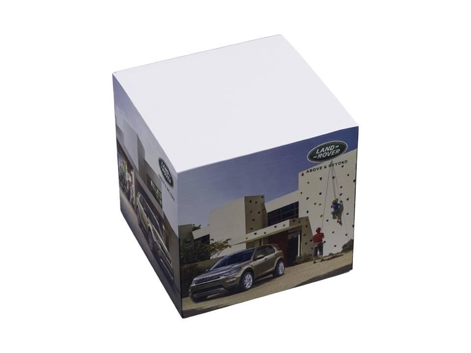 Papierkubus 4 zijden bedrukt - 2 designs