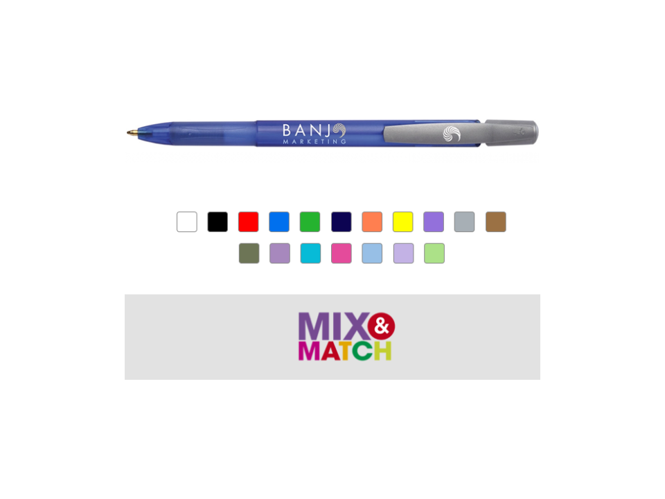 Pen Bic Media Clic grip balpen bedrukken