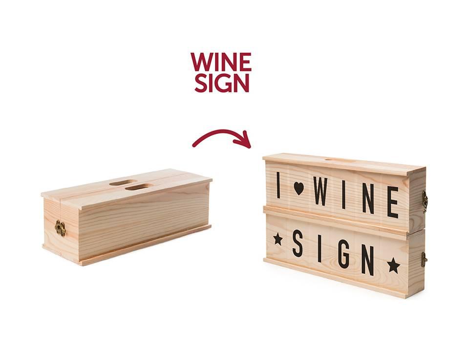 Rackpack Wine Sign
