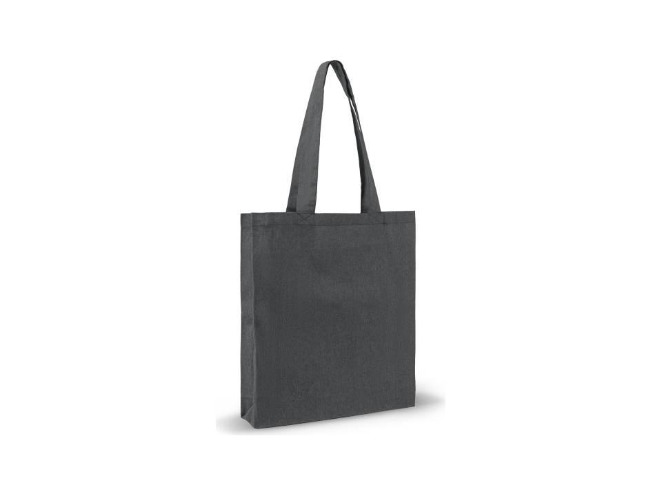 Recycled Katoen Schoudertas 38 x 42 x 10 cm-zwart