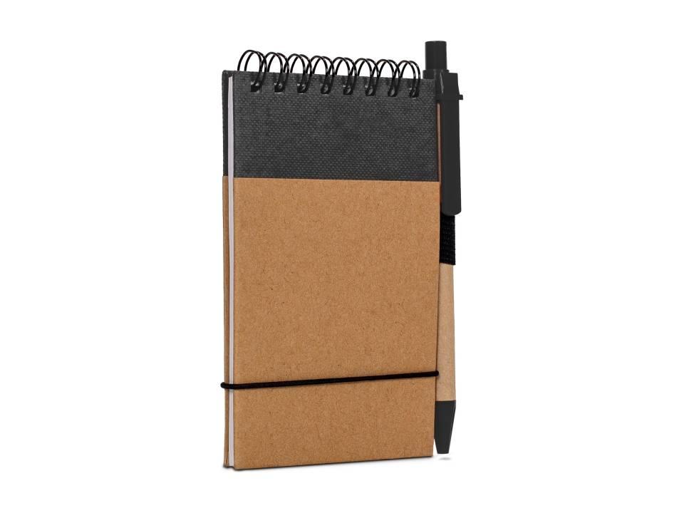 Reporter Notitieboekje Recycled Papier met Pen-zwart