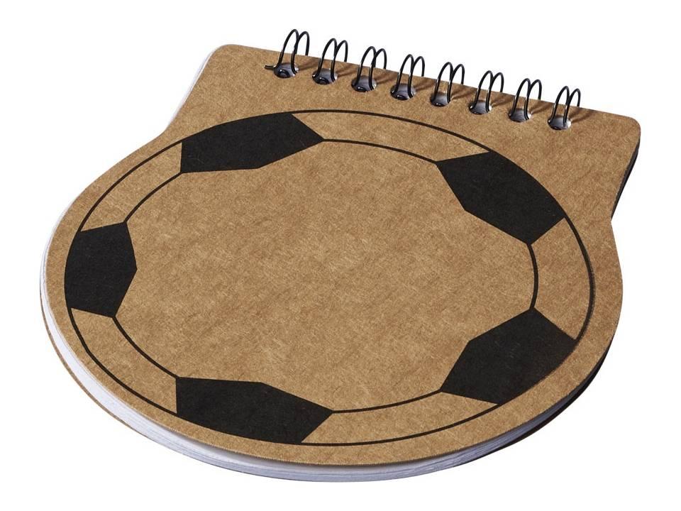 Score voetbal vorm noititieboek, naturel bedrukken