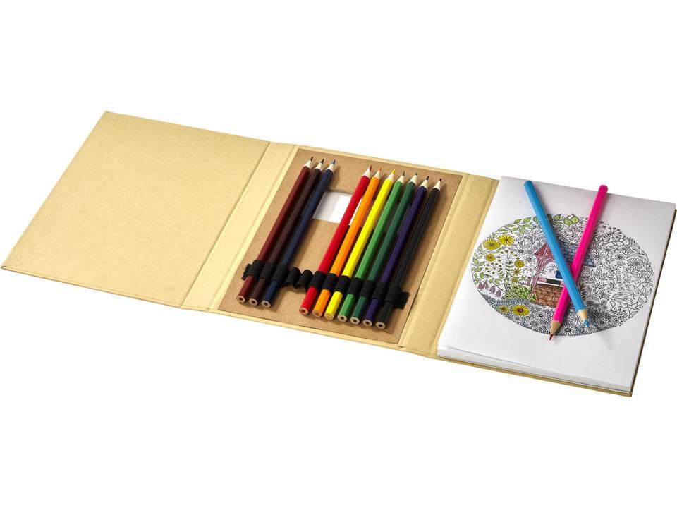 Set kleurtjes met papier
