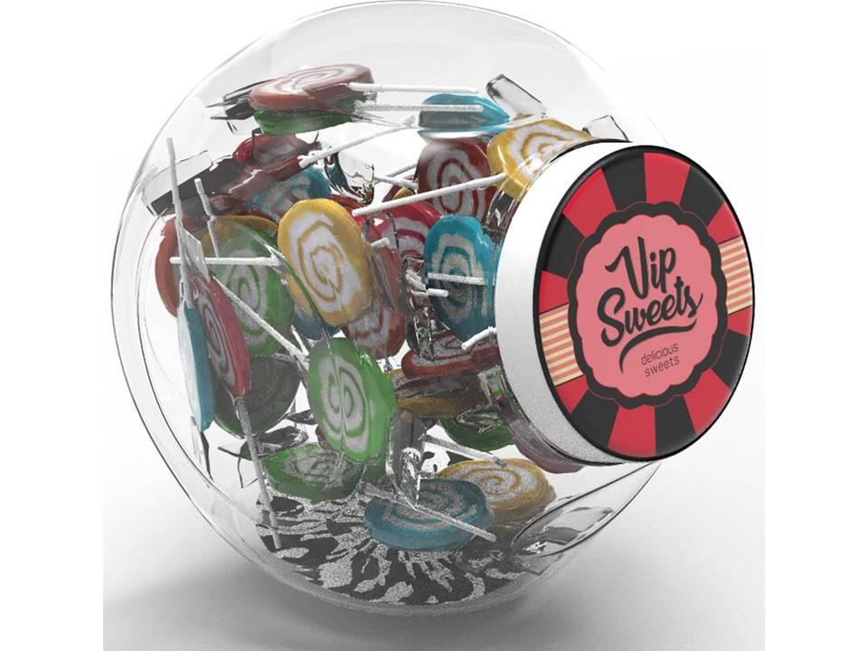 Snoeppot Lollipops bedrukken