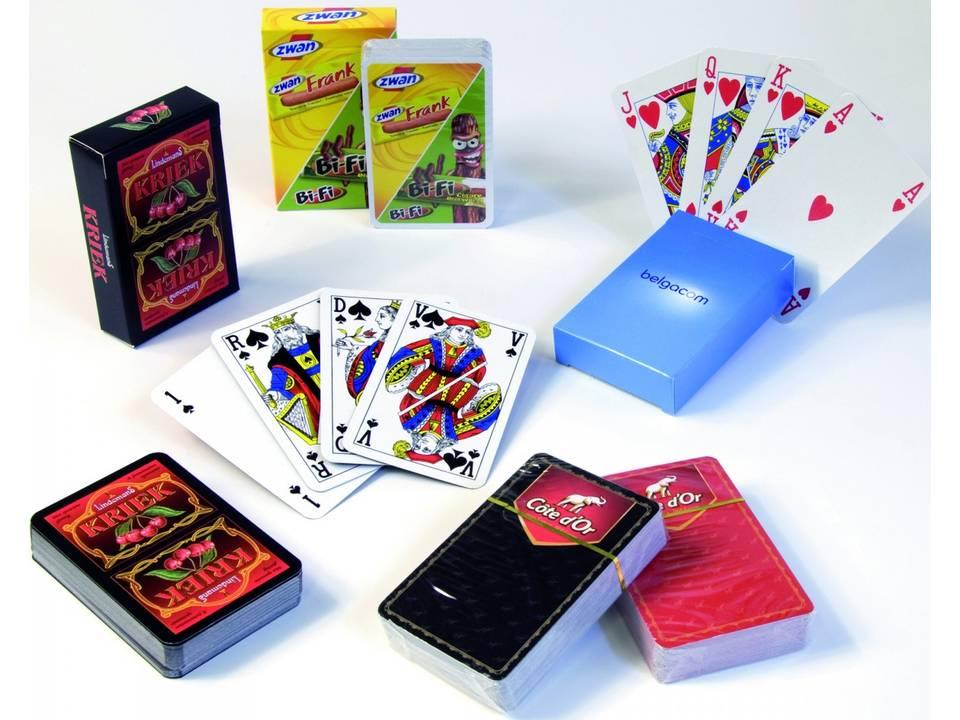 Speelkaarten met bedrijfslogo