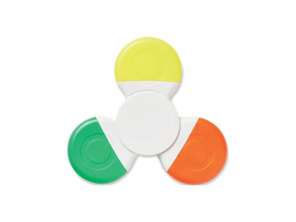 Spinmark handspinner met 3 kleuren highlighters bedrukken