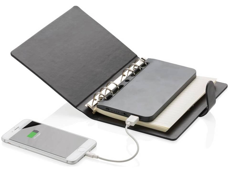 Standard notitieboek met uitneembare powerbank - 4000 mAh