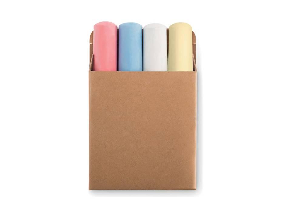 Stoepkrijt in 4 kleuren
