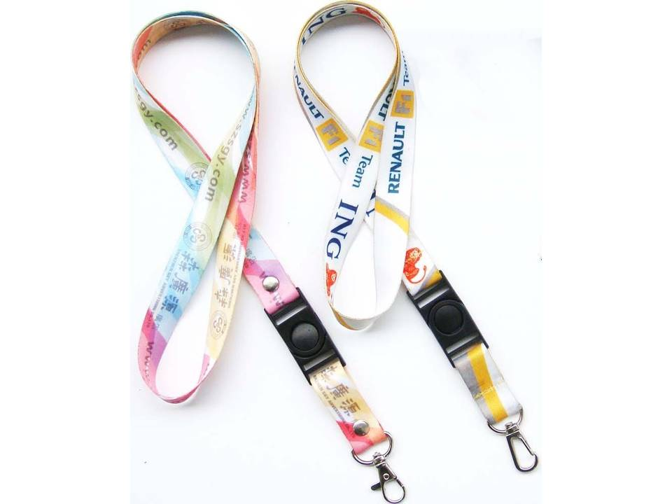 Sublimation lanyard met buckle