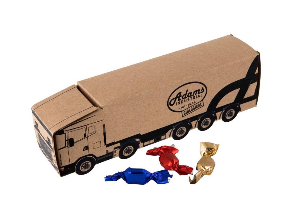 Truck van Kraft papier met metallic sweets